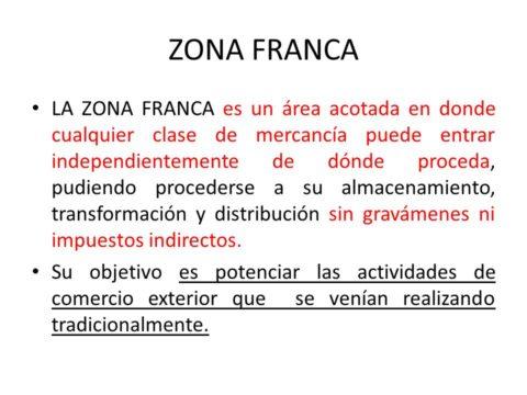 Descrizione zona Franca