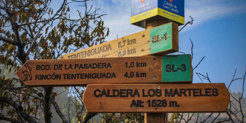 Segnaletica del senderismo in Gran Canaria